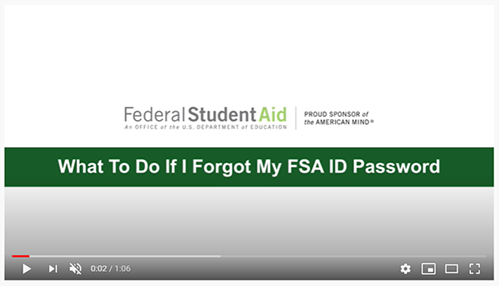 What To Do If I Forgot My FSA ID Password