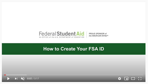 How to Create Your FSA ID
